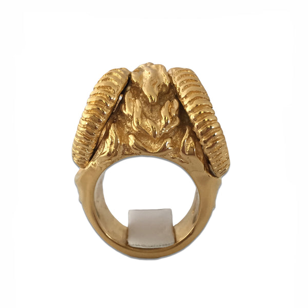 MB JR01 Ring Gold Plated Minotaur 18kt - Some Things Dark