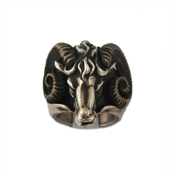 MB JR02 Ring Silver Sterling Minotaur - Some Things Dark