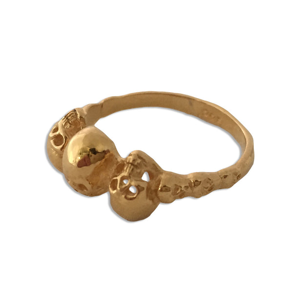 A3 Trinity Skull Ring in 14k Gold - Some Things Dark