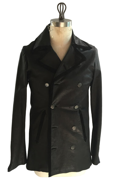 DR JK28 Leather D/B Jacket With Suede piping - Some Things Dark