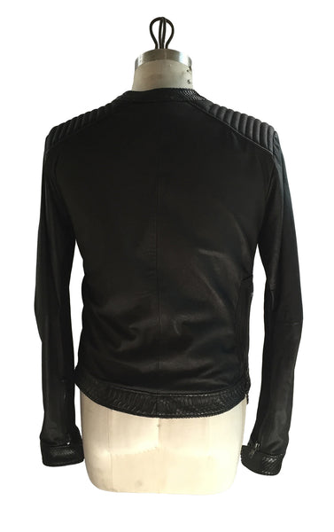 DR JK09 Leather Motor Jacket Python detailing - Some Things Dark