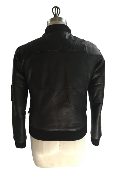 DR JK13 Leather Quilted Bomber Jacket - Some Things Dark