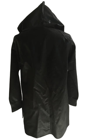 DR HO15 Waxed Cotton Hoodie, Side Zippers - Some Things Dark