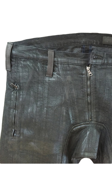 DR PA02 Waxed Jeans patch pockets rider - Some Things Dark