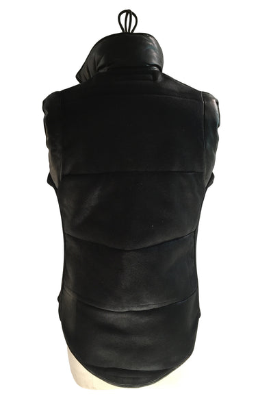 DR VE10 Quilted Waxed Vest with Leather Detailing - Some Things Dark