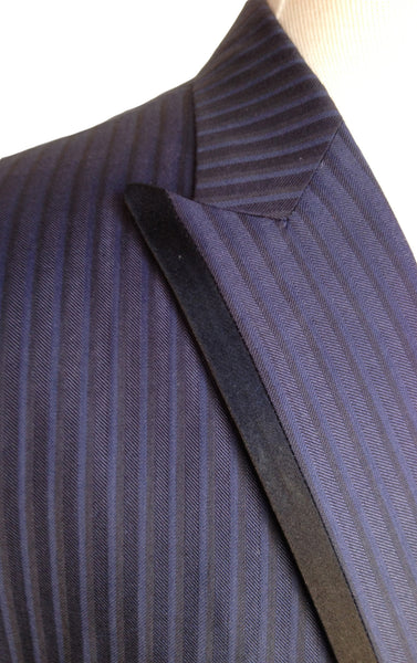 MN JK02 Tuxedo Jacket Italian Wool and Silk - Some Things Dark