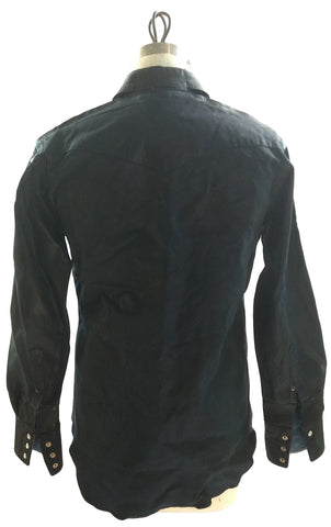DR SH07 Shirt Waxed Cotton Leather detailing - Some Things Dark