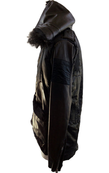 DR JH09 Waxed Field Jacket Hoodie with Fur - Some Things Dark