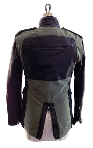 DR JK10  Field Jacket w Python trims and back leather pocket - Some Things Dark