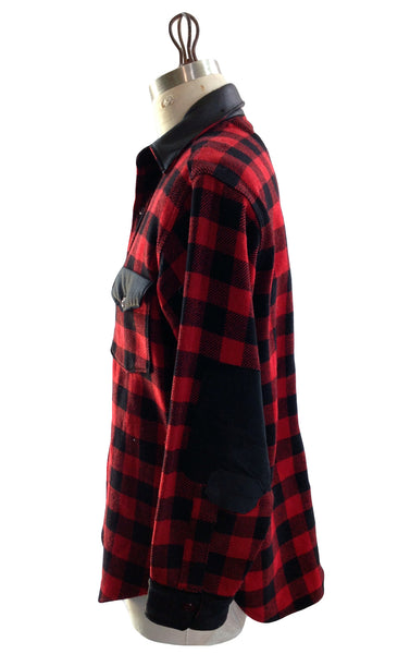 DR SH15 Flannel Shirt Leather detailing long zipper back - Some Things Dark