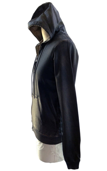 DR HO23 Brown Waxed Cotton Hoodie - Some Things Dark