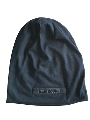 BV BE06 100% Cotton Beanie w Leather Embossed Label - Some Things Dark