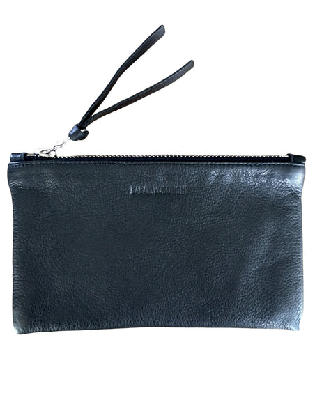 BV LW31 Black Italian Leather Wallet, Riri Zipper, Leather Pull - Some Things Dark