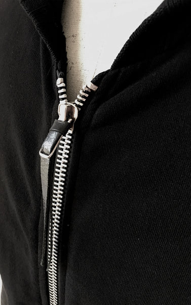 BV HO01 Hoodie Heavy Cotton Leather Sleeves Ribbed Details - Some Things Dark