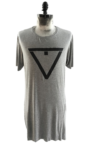 BV TS22 Long T-shirt in Modal with Front logo - Some Things Dark