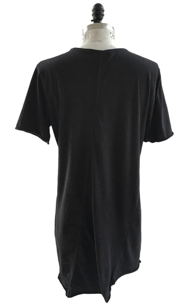 BV TS23 Long Black T-Shirt 100% Cotton with Front Logo - Some Things Dark