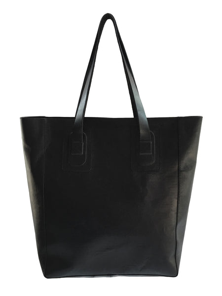 BV BG29 Black Leather Bag, Silk Branded Lining, Riri Zippers. - Some Things Dark