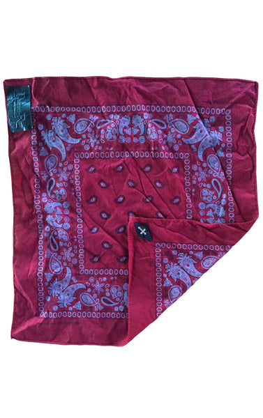 DR AC02 Vintage Re-Dyed Bandana with Silver Cross - Some Things Dark