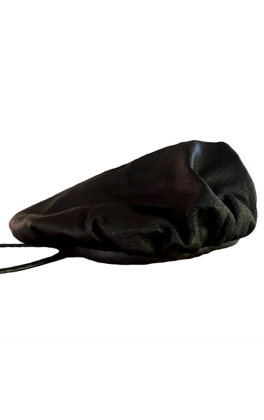 DR HA09 Leather Soft Hat with Sterling Silver Cross - Some Things Dark