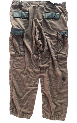 DR PA07 Cargo Military Pants, Vintage, Leather & Silver Detailing - Some Things Dark