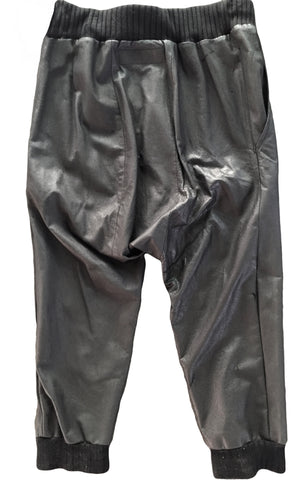 DR PA09 Leather Pants Dropped Crotch Sterling Silver hardware - Some Things Dark
