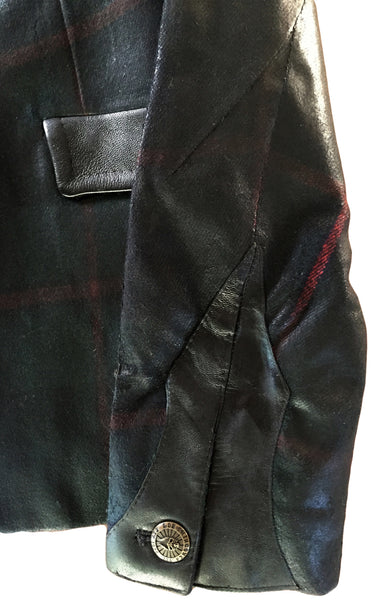 DR JK17 Wool Waxed Jacket with leather Detailing - Some Things Dark