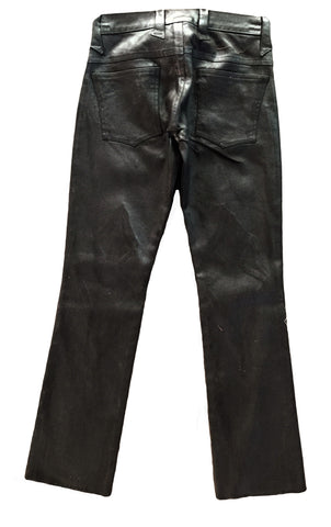 MN PA01 Waxed Jeans Knee Detailing, Boot Cut, Zip front - Some Things Dark