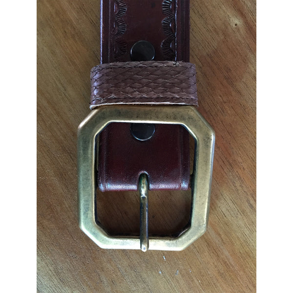 DR AC19 Leather Belt with 925 Silver Crosses inlays - Some Things Dark