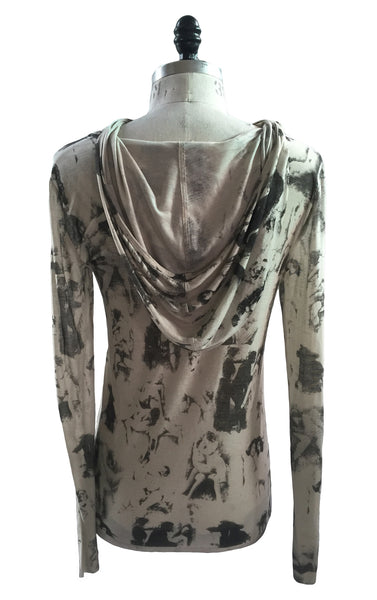 MB HO04 Italian Merino Wool Hoodie Vintage Custom Print - Some Things Dark