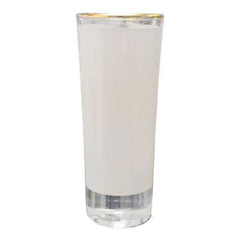 Smalt shotteglass med gullkant for sublimering, (70 ml)