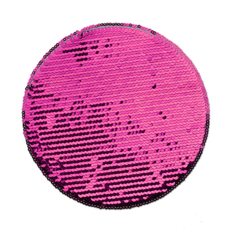 Stor sequin patch for sublimering - Rosa Runding