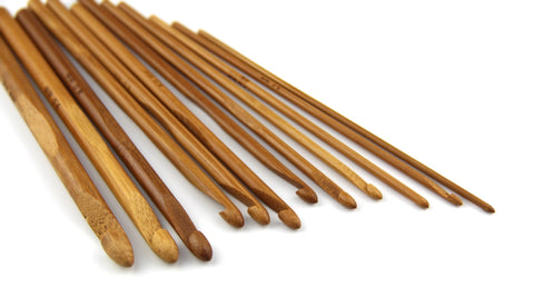 Ergonomic Bamboo Crochet Hooks 12 Sizes Set