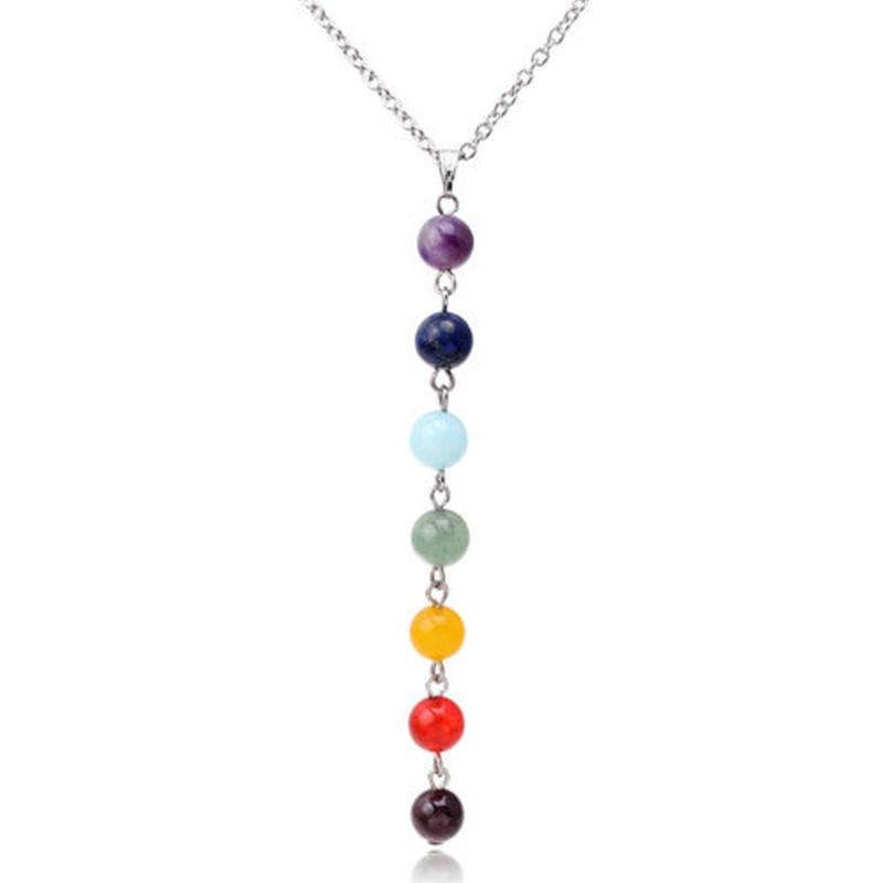 Fashion Jewelry - 7 Chakra Beads Yoga Necklace