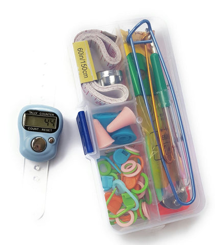 Knitting Tool Set with Digital Finger Counter