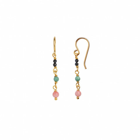 Petit Stone Earring On Hook - Mixed