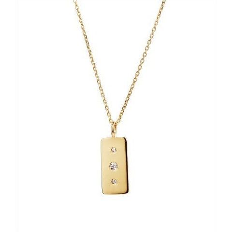 Stine A Glam Tag Necklace Gold