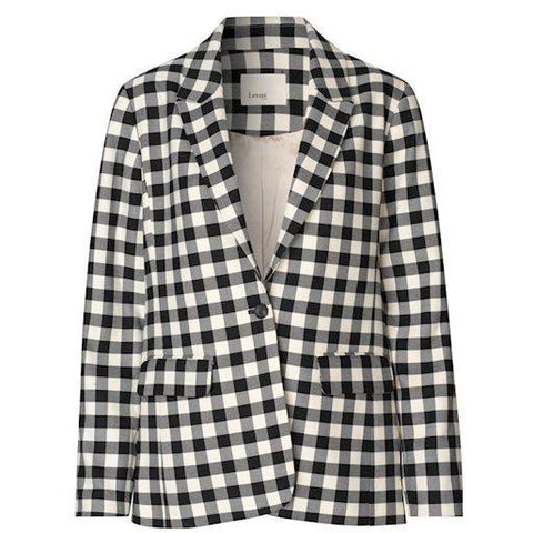 Levete Room - Gymma Blazer Black Check