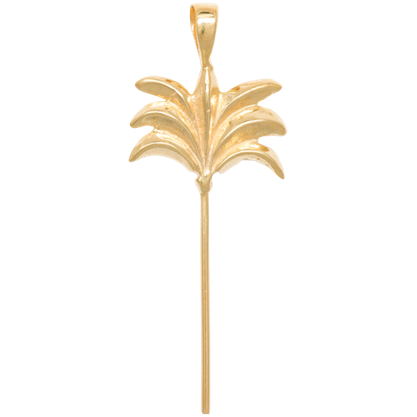 Anna+Nina - Palm Tree Necklace Charm Gold