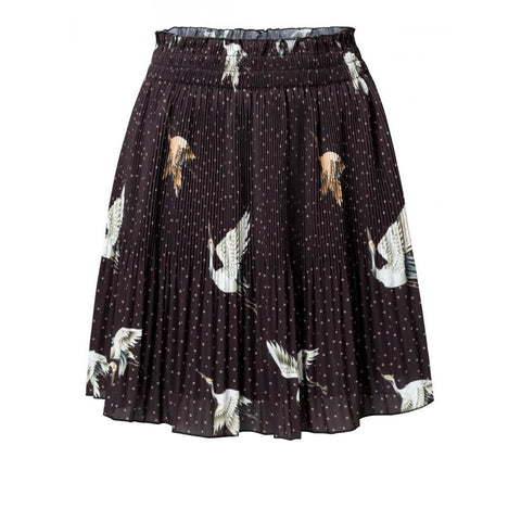 YAYA - Pleated Skirt Japanese Print