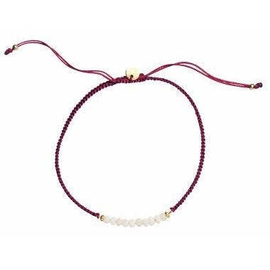 Stine A Lucky Bracelet Bordeaux Ribbon