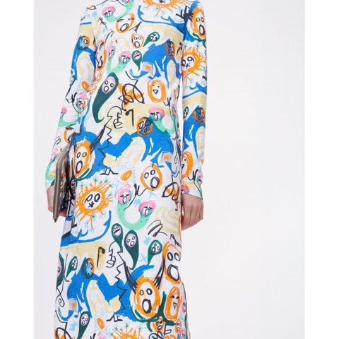 Munthe - Envelope Midi Dress Mix