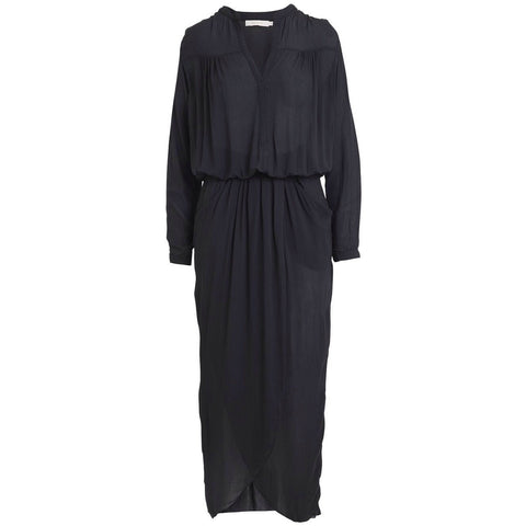Rabens Saloner - Kim Wrap Dress Faded Black