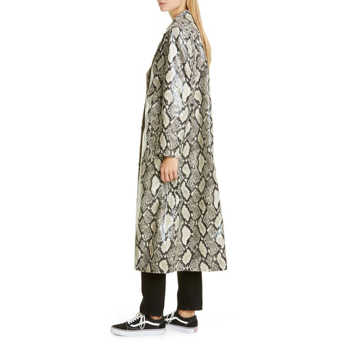 Stand Studio - Mollie Faux Coat Beige Snake