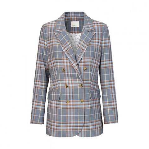 Levete Room - Emily 1 Check Blazer Light Blue