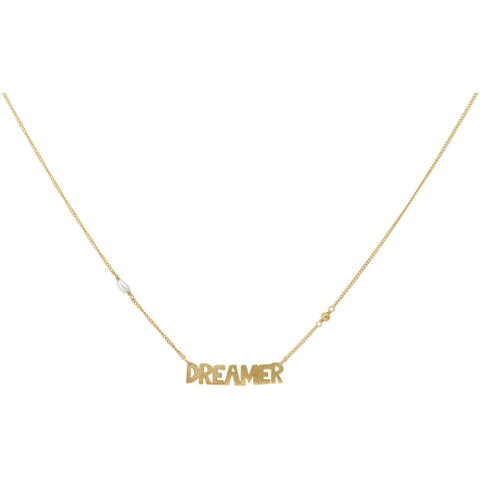 ANNA+NINA - Dreamer Necklace Silver Goldplated