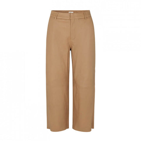 Levete Room - Globa Pants Leather Camel