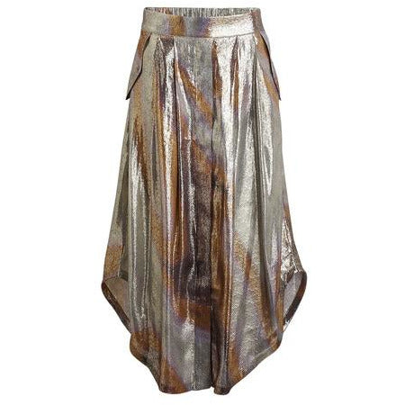 Rabens Saloner - Ramina Silk Lame Skirt