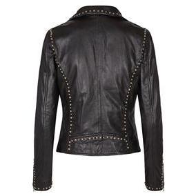 Mos Mosh - Rebel Leather Jacket Black