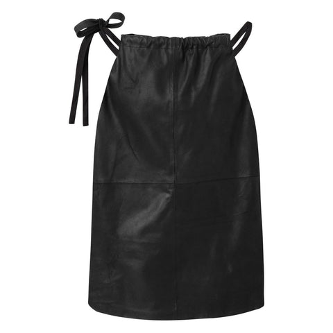 Depeche - Leather Halter-neck Black