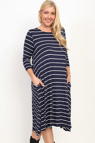 Striped Midi - PLUS